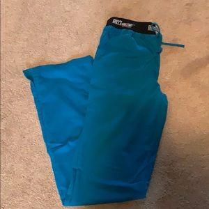 Teal Greys anatomy scrub pants